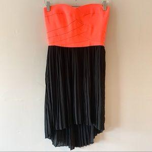 NWT Sans Souci Neon Pink Strapless Bandage Dress